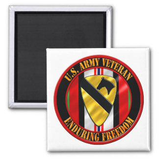 1st Cavalry Division OEF Square Magnet