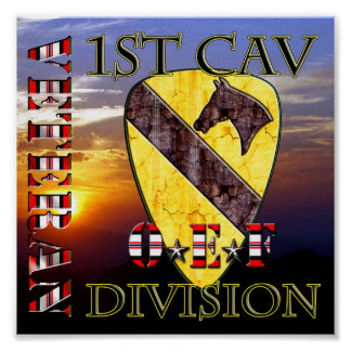 1st Cavalry Division OEF VETERAN Posters