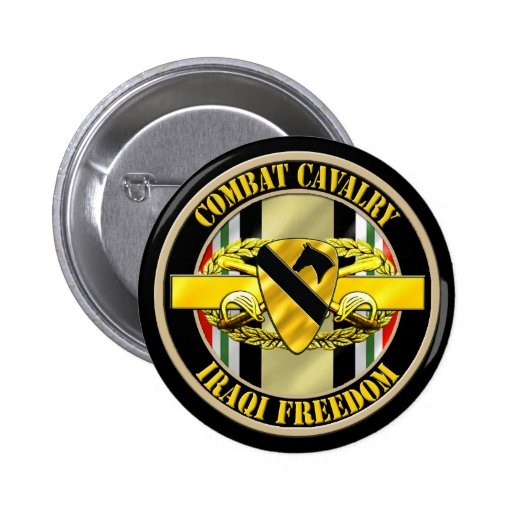 1st Cavalry Division OIF Cavalry Scout Pin