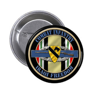 1st Cavalry Division OIF Infantry 6 Cm Round Badge