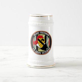 1st Cavalry Division OIF 18 Oz Beer Stein