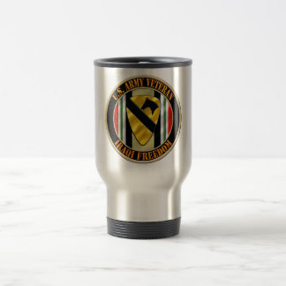 1st Cavalry Division OIF Veteran Stainless Steel Travel Mug