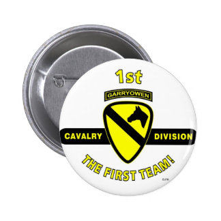 1ST CAVALRY DIVISION THE FIRST TEAM BUTTON