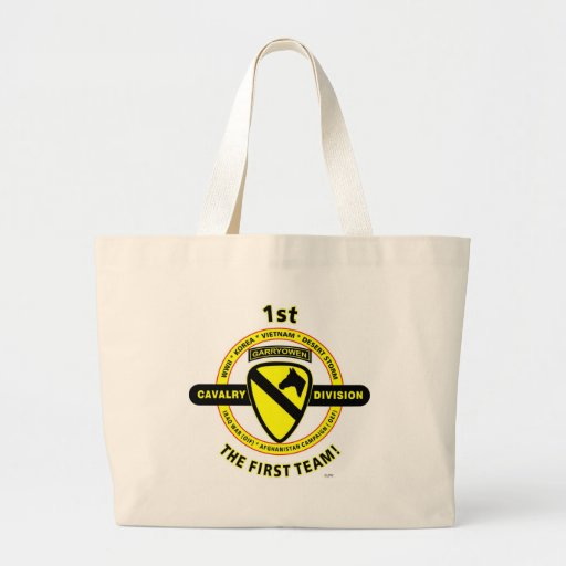 """1ST CAVALRY DIVISION """"THE FIRST TEAM"""" TOTE BAGS"""
