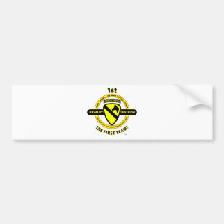 """1ST CAVALRY DIVISION """"THE FIRST TEAM"""" BUMPER STICKERS"""