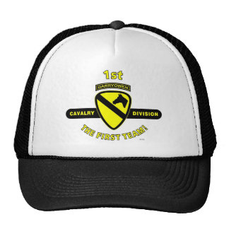 """1ST CAVALRY DIVISION """"THE FIRST TEAM"""" HATS"""
