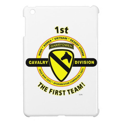 """1ST CAVALRY DIVISION """"THE FIRST TEAM"""" iPad MINI COVERS"""