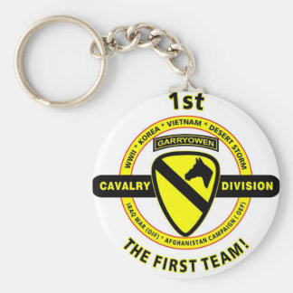 """1ST CAVALRY DIVISION """"THE FIRST TEAM"""" KEY CHAIN"""