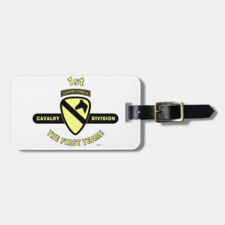 """1ST CAVALRY DIVISION """"THE FIRST TEAM"""" LUGGAGE TAG"""