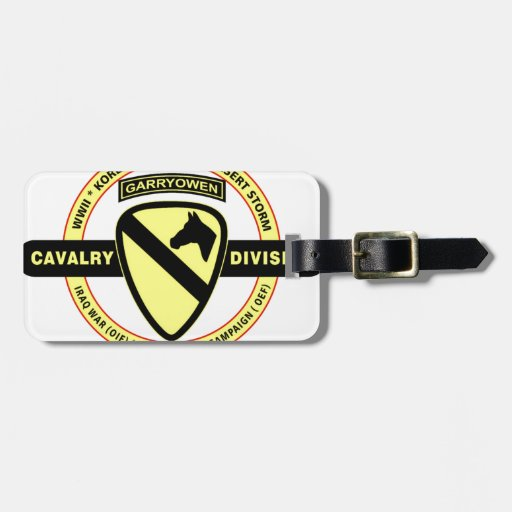 """1ST CAVALRY DIVISION """"THE FIRST TEAM"""" TRAVEL BAG TAG"""