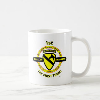 """1ST CAVALRY DIVISION """"THE FIRST TEAM"""" MUGS"""