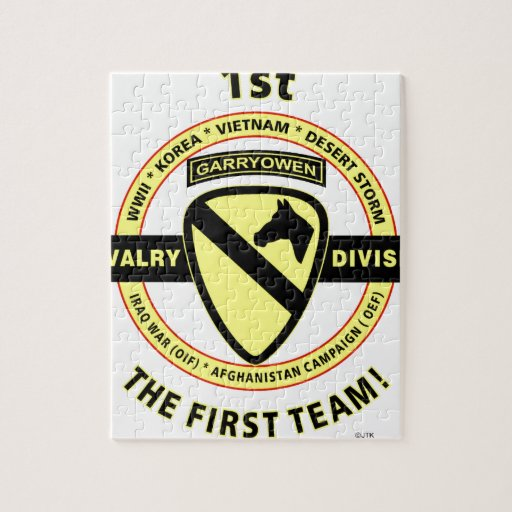 """1ST CAVALRY DIVISION """"THE FIRST TEAM"""" JIGSAW PUZZLES"""
