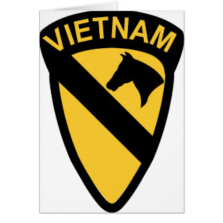 1st Cavalry Division - Vietnam Greeting Card