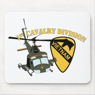 1st Cavalry Division - Vietnam - Huey Mouse Pad