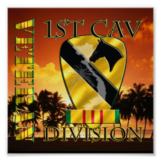 1st Cavalry Division Vietnam Veteran Posters