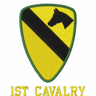 1st Cavalry Embroidered Hooded Sweatshirts