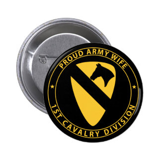 1st Cavalry Wife Button