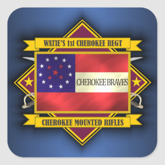 1st Cherokee Mounted Rifles Square Sticker