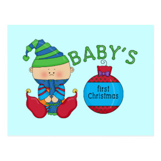 1st Christmas Elf Tshirts and Gifts Postcards