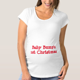 1st Christmas Maternity T-Shirt