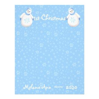 1st Christmas Snowman Scrapbook Paper 1 21.5 Cm X 28 Cm Flyer