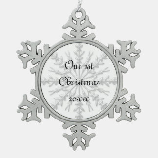 1st Christmas Together Snowflake Pewter Snowflake Decoration