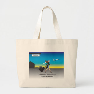 1st Class International Flight Attendant Large Tote Bag