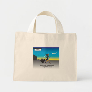 1st Class International Flight Attendant Mini Tote Bag