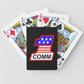 "1st Combat Comm ""1"" logo Bicycle Playing Cards"