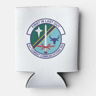 1st Combat Comm Logo Can Cooler