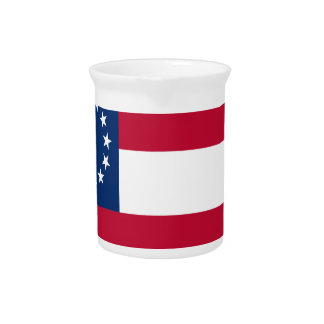 1st  Confederate Flag Drink Pitchers