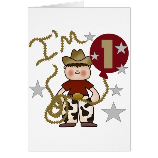1st Cowboy Birthday Tshirts and Gifts Card