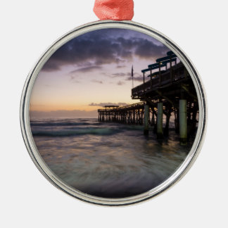 1st Dawn Cocoa Pier Metal Ornament