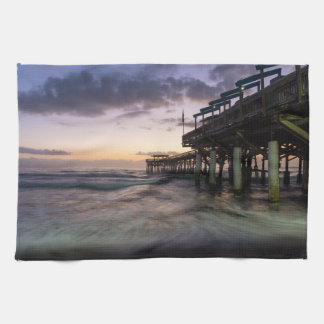 1st Dawn Cocoa Pier Tea Towel