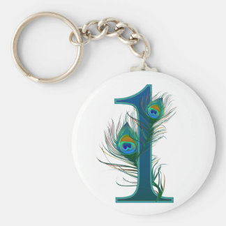 1st decorative numbered designs - Anniversary Basic Round Button Key Ring