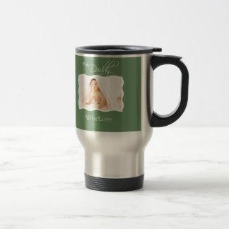 1st Father s Day - Custom Photo Stainless Mug