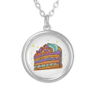 1st February - Baked Alaska Day Silver Plated Necklace