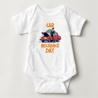 1st February - Car Insurance Day Baby Bodysuit