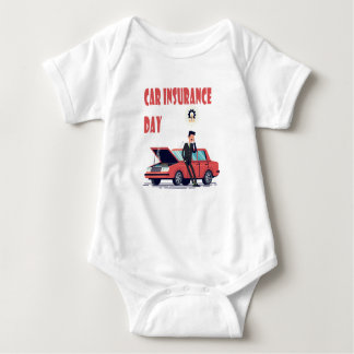 1st February - Car Insurance Day Baby Bodysuit