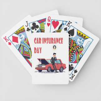 1st February - Car Insurance Day Bicycle Playing Cards