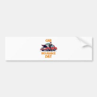 1st February - Car Insurance Day Bumper Sticker