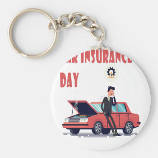 1st February - Car Insurance Day Key Ring