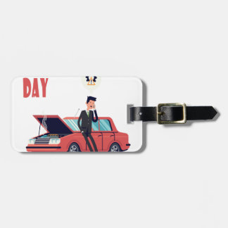 1st February - Car Insurance Day Luggage Tag