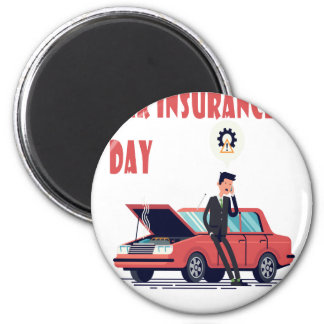 1st February - Car Insurance Day Magnet