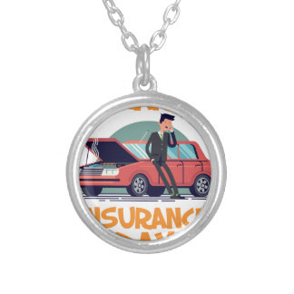 1st February - Car Insurance Day Silver Plated Necklace