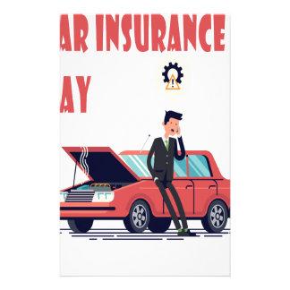 1st February - Car Insurance Day Stationery