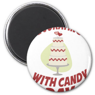 1st February - Decorating With Candy Day Magnet