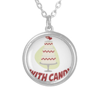 1st February - Decorating With Candy Day Silver Plated Necklace