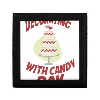 1st February - Decorating With Candy Day Small Square Gift Box