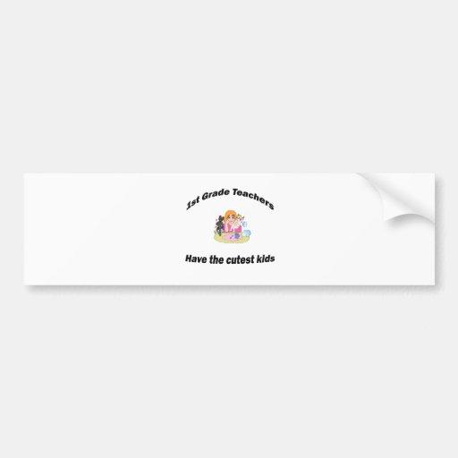 1st grade and kids bumper sticker